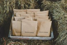 Milk and cookie bags are not really my style, but I still love the idea!