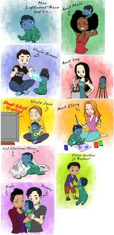 Max Lightwood Bane and his family ... From the hands off umkasandiary ... shadowhunters, alexander 'alec' lightwood, magnus bane, the mortal instruments, malec, chairman meow, rafael lightwood bane, max lightwood bane, maia roberts, simon lewis, jace herondale, clarissa 'clary' fray, isabelle lightwood