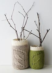 Ravelry: Spring Sprouts Mason Jar Covers FREE  pattern by Erin Black - So pretty !