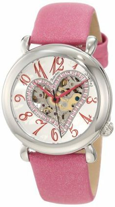 Stuhrling Original Women's 109SW.1215A2 Amour Aphrodite Delight Automatic Skeleton Pink Leather Watch Stuhrling Original. $98.99. Water resistant to 165 feet (50m). Added bonus of a black interchangeable satin leather strap. Satin twill covered genuine leather strap with stainless steel tang buckle. Round-shaped stainless steel case with polished bezel. Skeleton dial in a heart-shaped cut-out with Swarovski crystals set in heart-border. Save 75%!