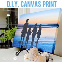 """I wonder if you could wrap your own photos onto canvas?""….turns out…YOU CAN!!!"