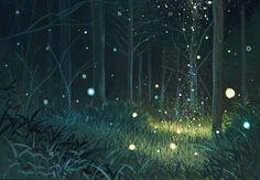 Anime Forest Night Background Materi Pelajaran 5