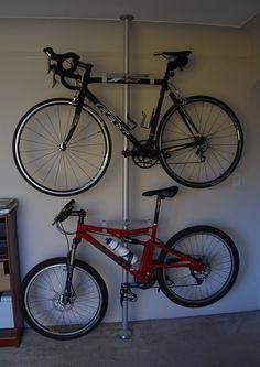 Ikea hack for bike stand. Smart!