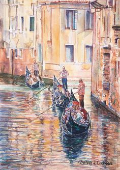 """Morning Light, Venice"" by Justine Cadman. Paintings for Sale. Bluethumb - Online Art Gallery Watercolour Paintings, Watercolor, Rural Area, Buy Art Online, Australian Artists, Morning Light, Paintings For Sale, Online Art Gallery, Impressionism"