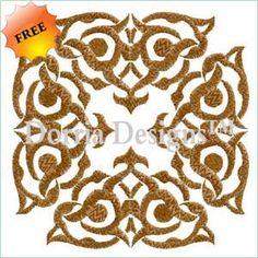 Free embroidery ornament design 346