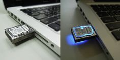 Oh yes!!! an USB into a HDD xD