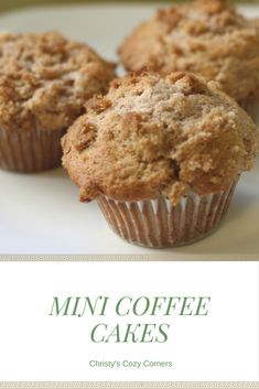 Treat Mom on Mother's Day with these yummy mini coffee cakes!
