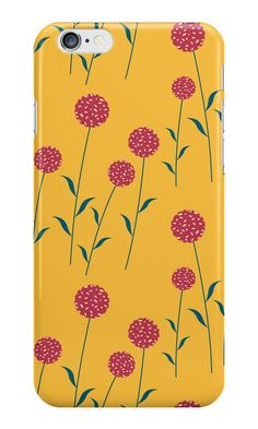 'Red Cookie flowers' iPhone Case by ellenyang