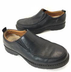 UGG Australia Byrnes 5532 Black Leather Sheepskin Lined Slip-On Loafers Mens 12 #UGGAustralia #LoafersSlipOns