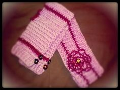 Ear warmer with flower by mamasings on Etsy