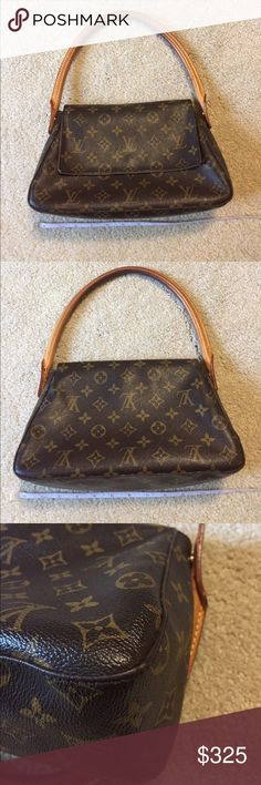 Authentic loop Louis Vuitton Great bag for evening out, lunch/brunch! Edges are good. Small cracks inside bag (under flap). Fine cracks on outside flap (see pic) Handles nice honey patina. Inside faint mark (hard  to pick up on camera). No smoking home. Well cared for. Date code SD0062. Ran out of avail space PM gives for pics but happy to provide more. No lowball offers. This is priced to sell and be enjoyed by next. Measures 11x6 3/4 (approx) Louis Vuitton Bags Satchels