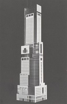 Syracuse University Times Square Student Skyscraper Competition entry, Mark Weintraub and David Bushnell, 1983