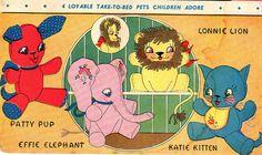 Vogart 159 Stuffed pets pattern. A 1950s sewing pattern.