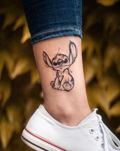 Stitch tattoo ideas and designs. … From @ fatkat. - Stitch tattoo ideas and designs. … Of @ fatkat.pl – Art corner tattoos – DIY b - Ohana Tattoo, 16 Tattoo, Wrist Tattoos, Back Tattoo, Body Art Tattoos, Cool Tattoos, Tattoo On Face, Tatoos, Arrow Tattoos