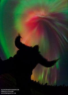 Aurora Fireworks - Froson, Sweden