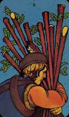 Ten of Wands - Morgan-Greer Tarot by Bill Greer, Lloyd Morgan