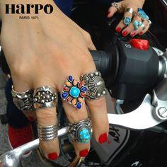 Harpo © #bijouxamérindiens #bijouxturquoise #bijouxargent #bagueturquoise