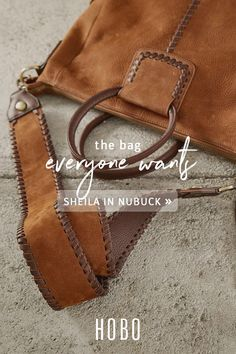 1f8738142e Our iconic Sheila carryall bag now in nubuck hide with ever-cool  embellishments that we