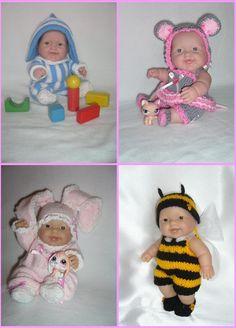 5810 Berenguer doll's knitting PATTERNS PDFset by MarinaMandarina, £8.00