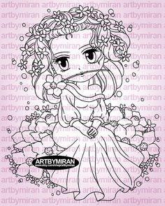 Digital Stamp Azalea240 Digi Stamp Coloring page by artbymiran