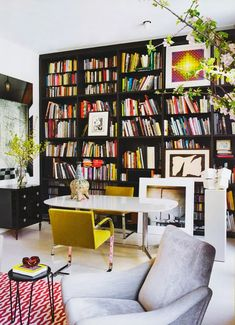 Contemporary colorful eclectic home office - Daily Dream Decor