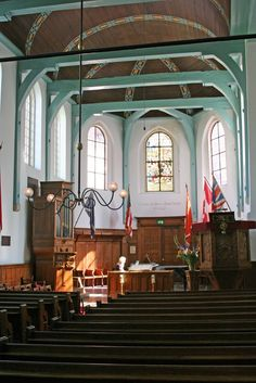 The interior of the English Reformed Church in the Begijnhof, Amsterdam, where Dominic and Abigail get married.