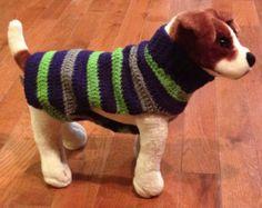 Häkeln Sie Oma Square Hund Pullover leicht von kamsstorecom auf Etsy