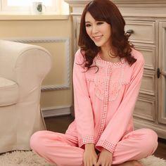 Kigurumi-Full-Modal-Knitted-Solid-New-2014-100-Cotton-Pajamas-Women-font-b-Night-b-font.jpg (460×460)