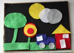 DIY Travel Size Felt Board, easy to make and so fun!