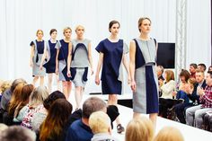 Dan Nesterov Fashion, denim dresses. Gray's School of Art, RGU, Robert Gordon University, Fashandtexatg
