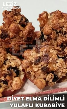 Diyet Elma Dilimli Yulaflı Kurabiye – Diyet Yemekleri – The Most Practical and Easy Recipes Delicious Desserts, Yummy Food, Tasty, Ice Cream Deserts, Pastry Cake, Granola, Clean Eating, Food And Drink, Healthy Recipes