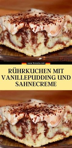 Zutaten für den teig: 3 eier 120 g puderzucker German Cakes Recipes, Cake Recipes, Dairy Free Chocolate Cake, No Bake Cake, Baby Food Recipes, Food And Drink, Sweets, Stuffed Peppers, Snacks