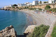 Playa El Salon, Nerja, Spain Nerja, Cosy, Beaches, Water, Outdoor, Salons, Beach, Viajes, Gripe Water