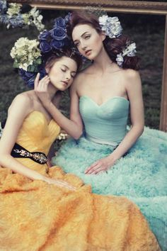 Flower Maiden Fashion Editorials - The Gladys Ng 'Painting a Garden' Photoshoot is Whimsical