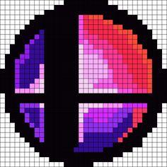 Super Smash Bros Smash Ball Perler Bead Pattern / Bead Sprite