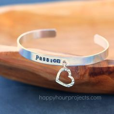 Tutorial: Stamped Charm Bangle and How to Add Eyelets to Metal Blanks at Happy Hour Projects