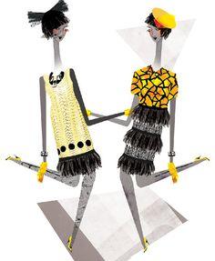 Holly Fulton  Fashion Illustration Print by LesleyToast on Etsy, £15.00