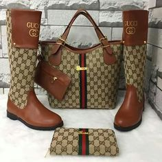 Gucci purse boots and wallet Gucci Fashion, Fashion Bags, Fashion Shoes, Fashion Goth, Cute Shoes, Women's Shoes, Me Too Shoes, Gucci Purses, Gucci Handbags