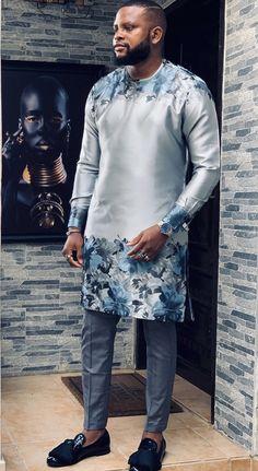 LLGM African Wear Styles For Men, African Dresses Men, African Clothing For Men, African Shirts, Big Men Fashion, African Men Fashion, Plus Size Fashion For Women Summer, Native Wears, Nigerian Men