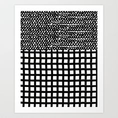 Circles and Grids Art Print by Bouffants and Broken Hearts - $25.00
