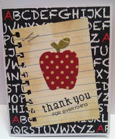 card apple apples Taylored Expressions, apple stax staxlet, Teacher Thank you cards Teacher Appreciation Cards, Teacher Cards, Teacher Gifts, Teacher Thank You Notes, Thanks Teacher, Tarjetas Diy, Kids Cards, Cards Diy, Scrapbook Cards