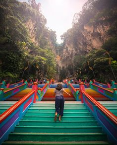 There's no joy like running up cotton candy colored stairs to a stone temple full of monkeys 🐒 Malaysia you're beautiful 🌏 . Shot with… Malaysia Truly Asia, Malaysia Travel, Petronas Towers, Batu Caves, Modern City, Kuala Lumpur, Travel Photos, The Good Place, Around The Worlds