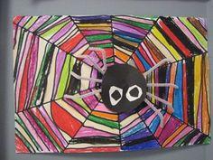Artsonia Art Museum :: Rainbow Spiders