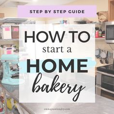 Learn how to start a home bakery business in this step by step guide. Learn how to pass a health inspection, create a website, design a menu & set prices. Bakery Business Plan, Baking Business, Catering Business, Cake Business, Business Tips, Home Baking, Baking Tips, Bakery Recipes, Bakery Ideas
