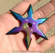 6 pointed rainbow throwing star