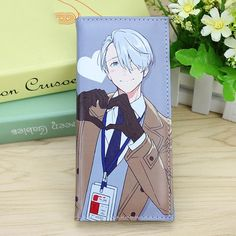 Anime Yuri On Ice COS Wallet Long Style Victor Nikiforov PU Leather Purse with Multi Card Holders