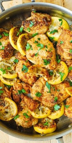 Lemon Chicken Skillet - quick and easy 30-minute recipe. Healthy and gluten free! #BHG #sponsored