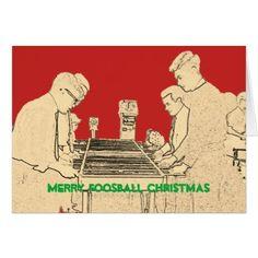 Merry Christmas Foosball Photo Art Fuzboll Vintage Card - Xmas ChristmasEve Christmas Eve Christmas merry xmas family kids gifts holidays Santa