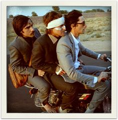 Jason Schwartzman, Owen Wilson, and Adrien Brody from THE DARJEELING LIMITED. wes anderson, daughterofchaucer