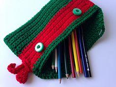 Ravelry: Ninja Turtle Pencil Bag pattern by 5 little monsters